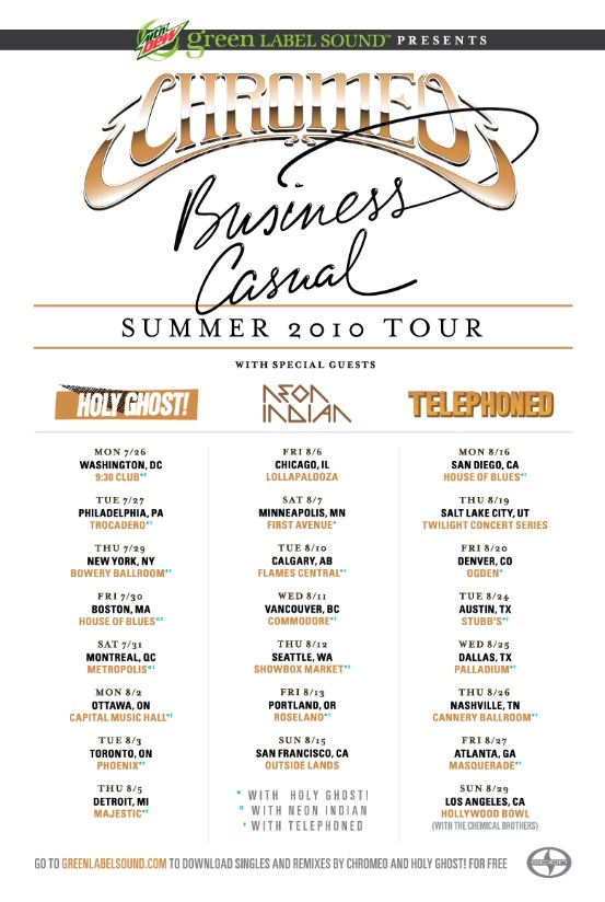 Chromeo Tour Flyer